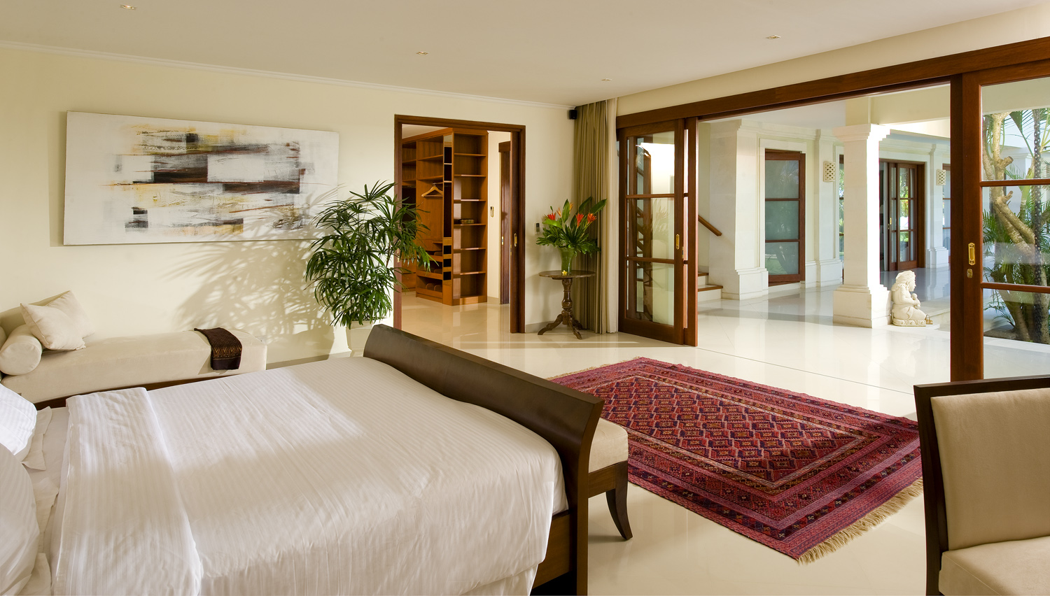 Taman Sorga - Guest wing downstairs master bedroom and dressing room