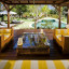 Taman Sorga - Pool house sitting area with pool view