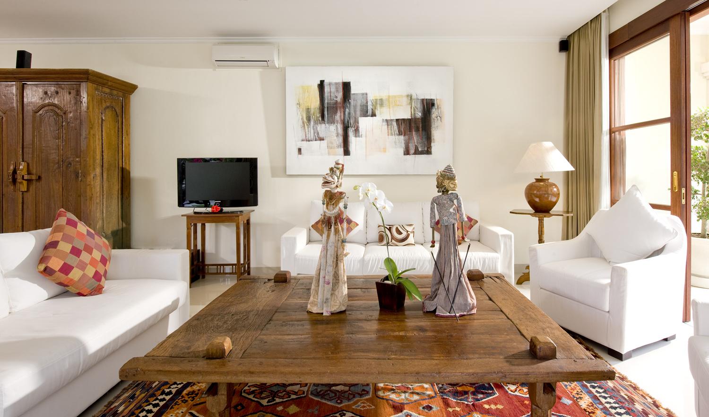 Taman Sorga - Studio second sitting area and television