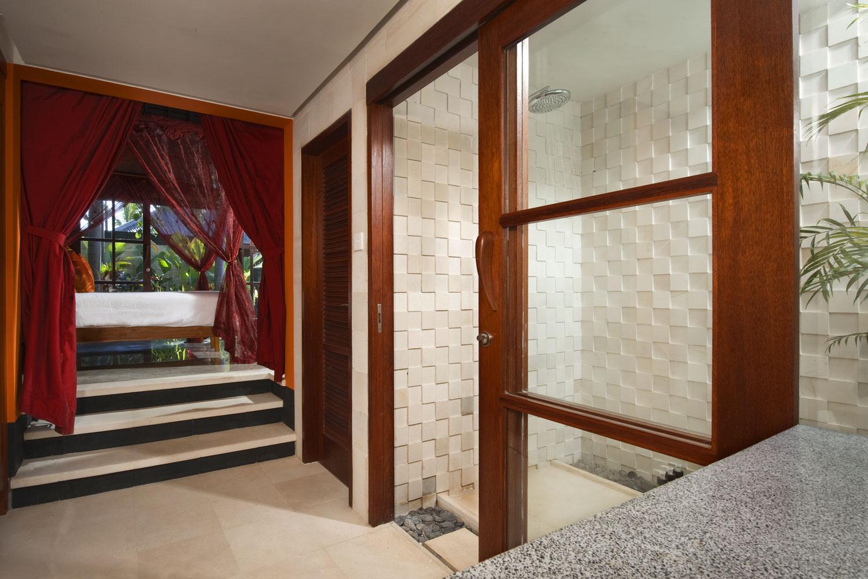 Pushpapuri - Red Bedroom Bath