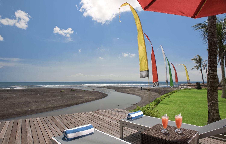 Pushpapuri - Sun Chairs By River To Beach